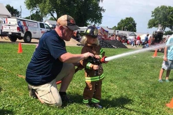 child firefighter experience